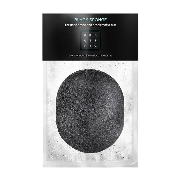 Спонж конняку для лица Beautific Black Sponge For Acne Prone And Problematic Skin