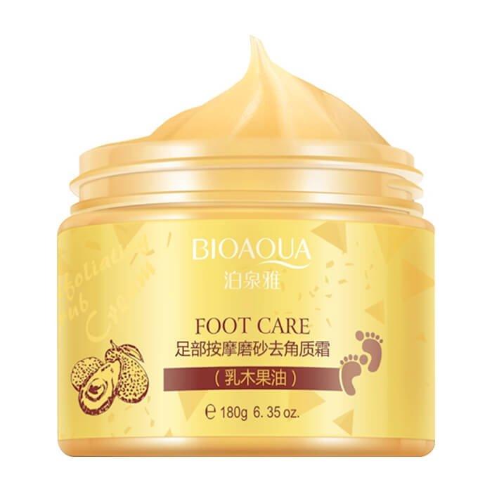 Крем для ног BioAqua Shea Butter Foot Massage Exfoliating Cream