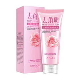 Пилинг для лица BioAqua Plant Extraction You Intoxicated Shower Exfoliator Rose