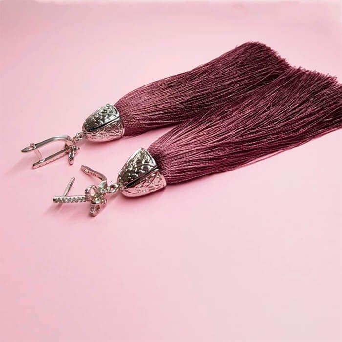 Серьги-кисти Wizard Brush - Rose Antique