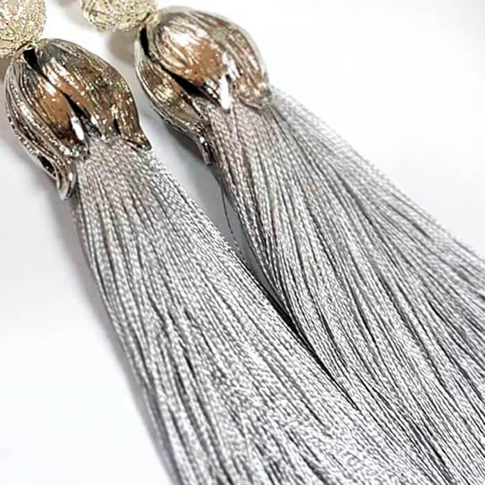 Серьги-кисти Wizard Brush - Winter Silver