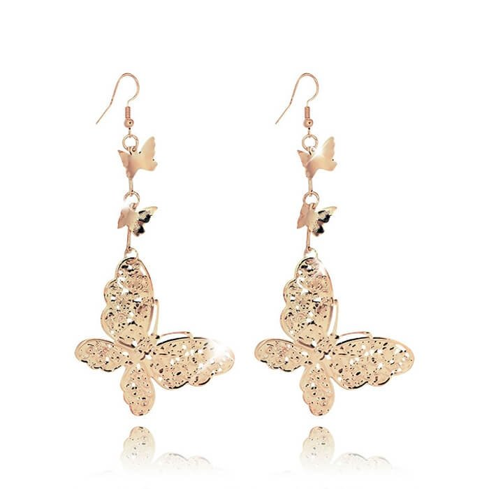 Серьги Mia Collection - Gold Butterfly