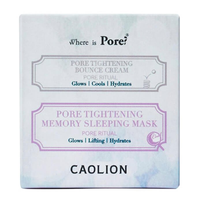 Дуэт крема и маски Caolion Pore Tightening Day & Night Glowing Duo
