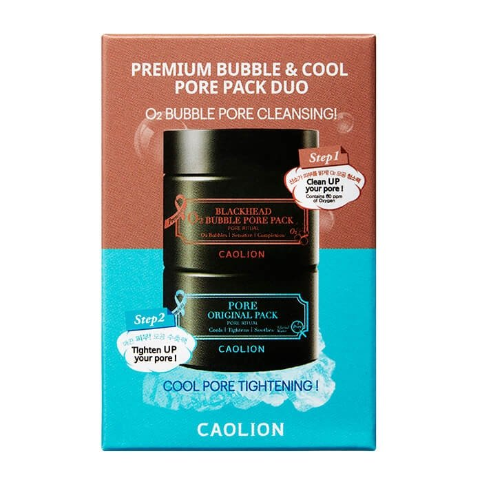Дуэт миниатюр Caolion Premium O2 Bubble & Cool Pore Pack Duo (mini)