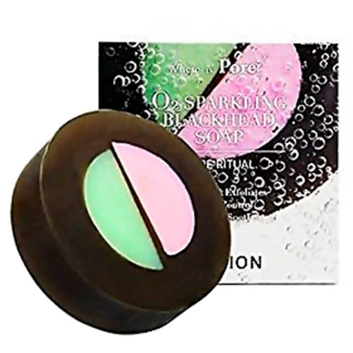 Мыло для лица Caolion Blackhead O2 Sparkling Soap