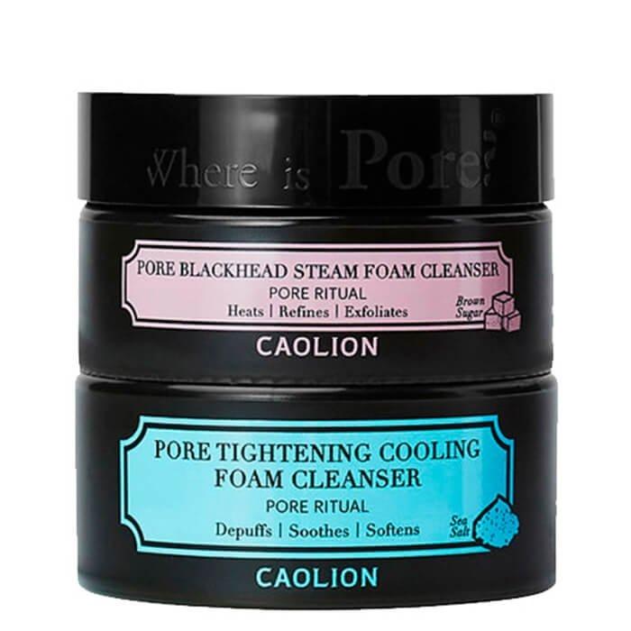 Очищающая пенка Caolion Hot & Cool Pore Foam Cleanser Duo