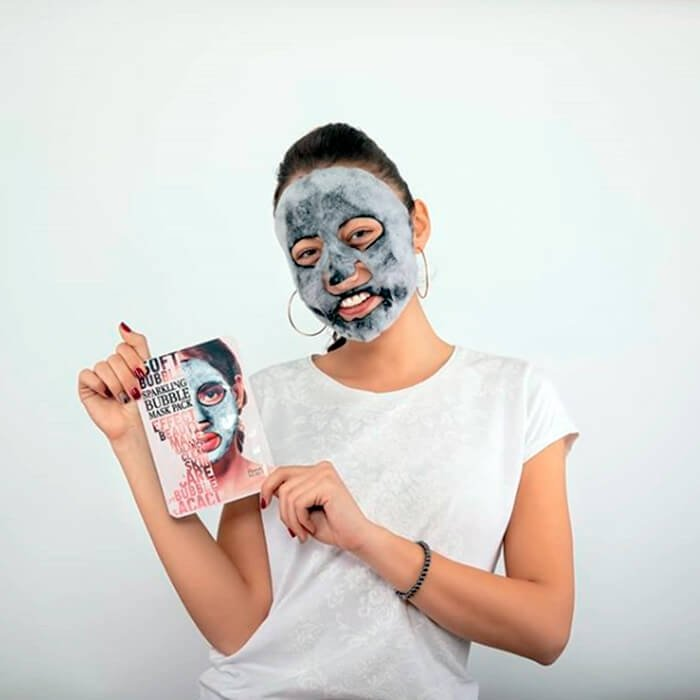 Кислородная маска Chamos Acaci Soft Bubble Sparkling Mask Pack