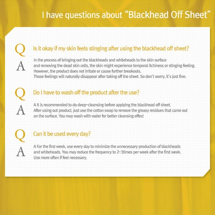 Салфетки от чёрных точек Ciracle Pore Control Blackhead Off Sheet