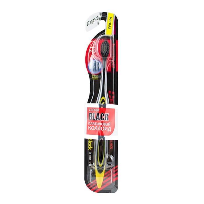 Зубная щётка DentalPro Black Compact Head - Мягкая
