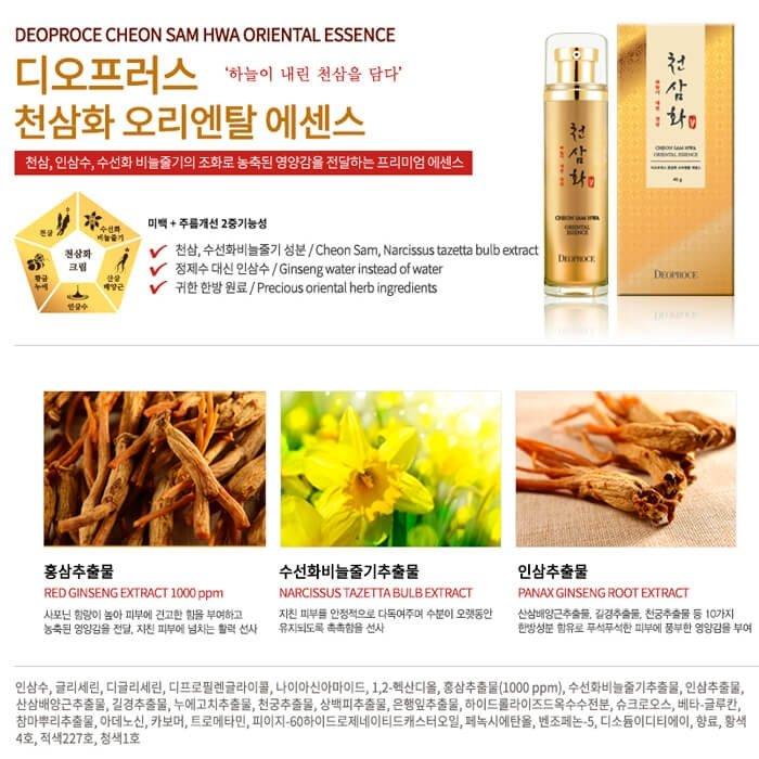 Эссенция для лица Deoproce Cheon Sam Hwa Oriental Essence