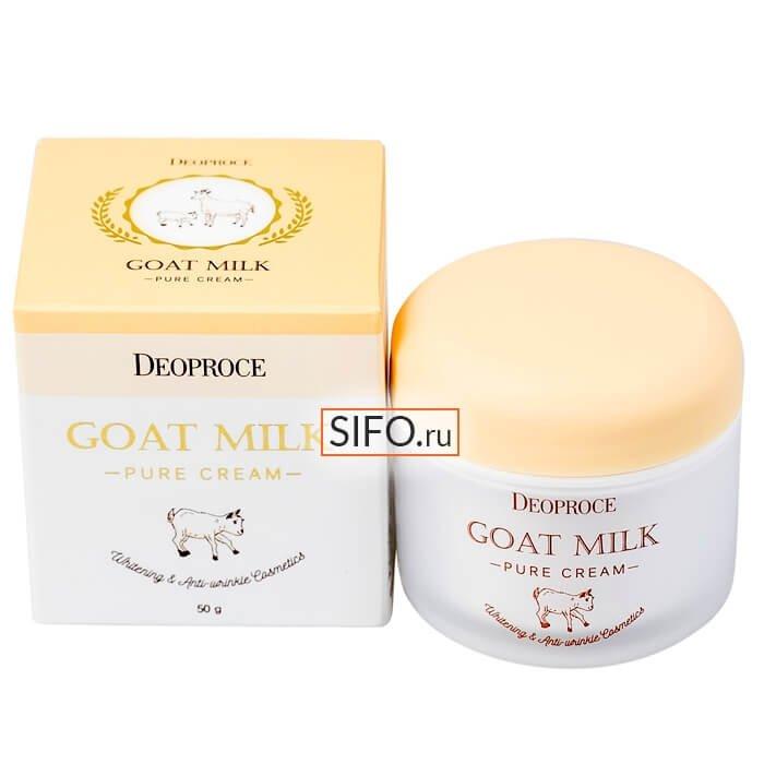 Крем для лица Deoproce Goat Milk Pure Cream