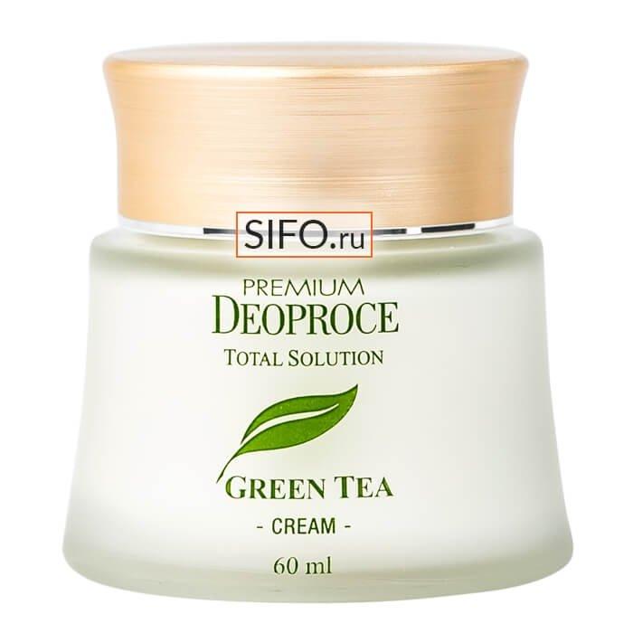 Крем для лица Premium Deoproce Green Tea Total Solution Cream (60 мл)