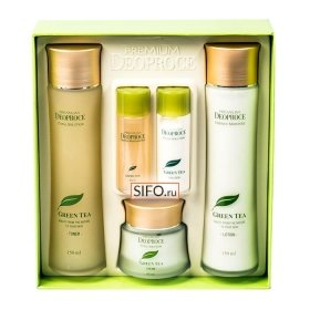 Набор для лица Premium Deoproce Green Tea Total Solution 3 Set
