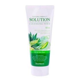 Очищающая пенка Deoproce Natural Perfect Solution Cleansing Foam Aloe