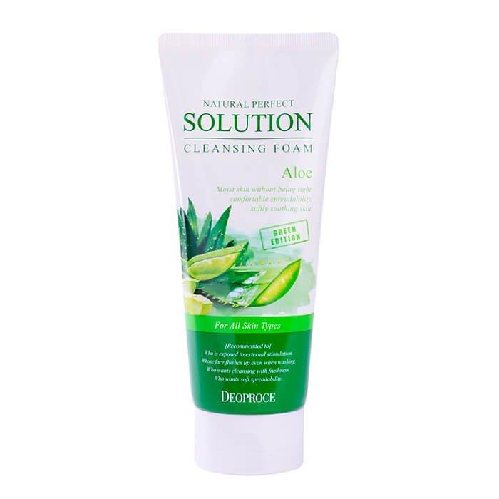 Очищающая пенка Deoproce Natural Perfect Solution Cleansing Foam Aloe