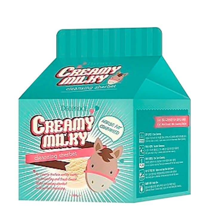 Очищающий щербет Deoproce Creamy Milky Cleansing Sherbet