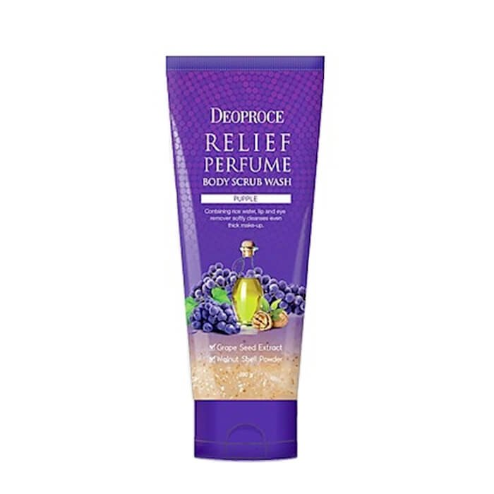 Скраб для тела Deoproce Relief Perfume Body Scrub Wash - Grape Seeds