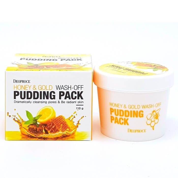 Смываемая маска Deoproce Honey & Gold Wash-Off Pudding Mask