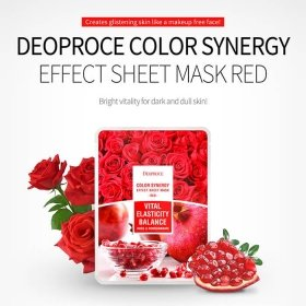 Тканевая маска Deoproce Color Synergy Effect Sheet Mask Red