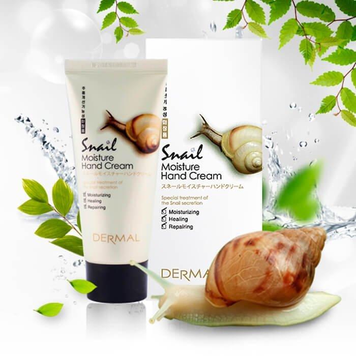 Крем для рук Dermal Snail Moisture Hand Cream