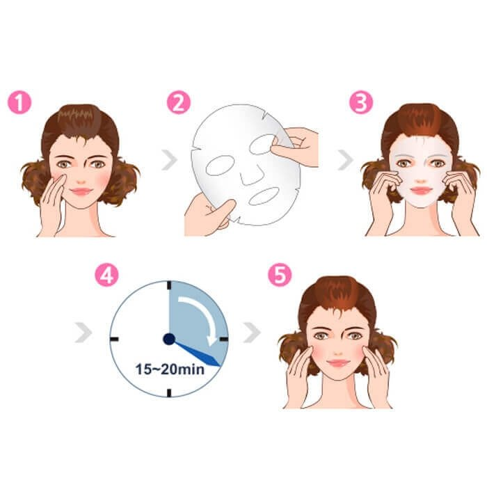 Тканевая маска Dermal Apricot Collagen Essence Mask