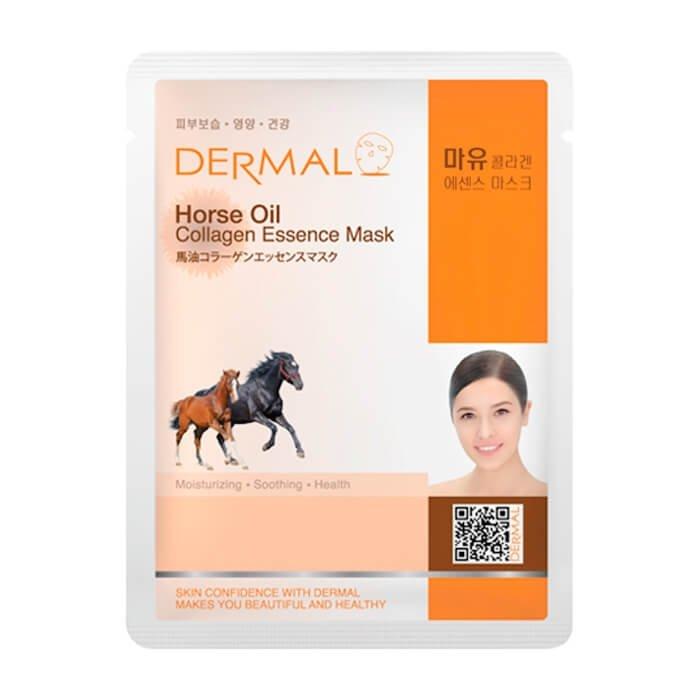 Тканевая маска Dermal Horse Oil Collagen Essence Mask