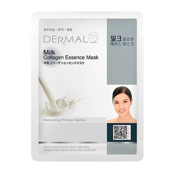Тканевая маска Dermal Milk Collagen Essence Mask