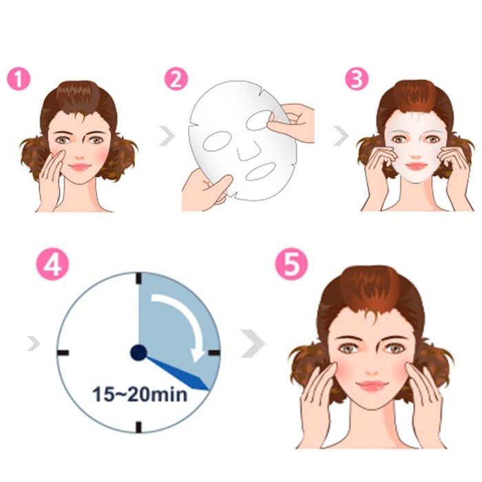 Тканевая маска Dermal Moisture Facial Essence Mask-for Man