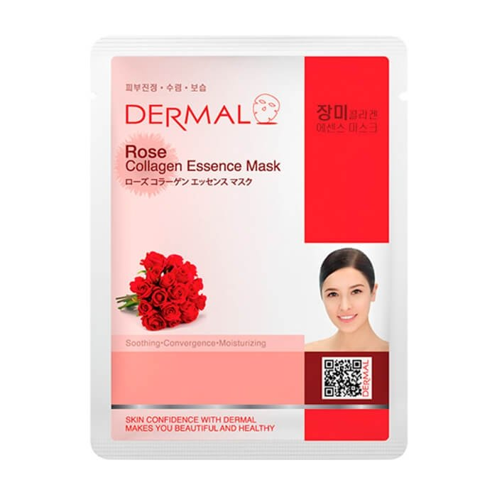 Тканевая маска Dermal Rose Collagen Essence Mask