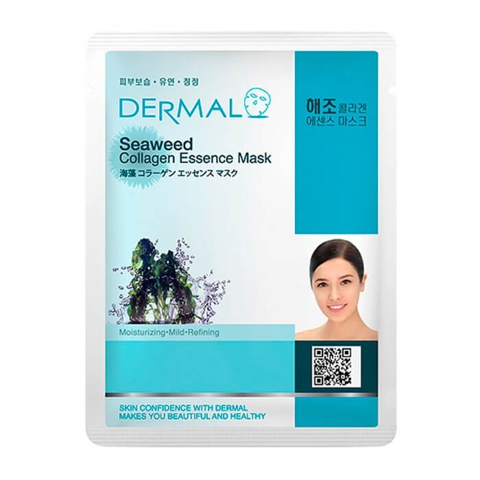 Тканевая маска Dermal Seaweed Collagen Essence Mask