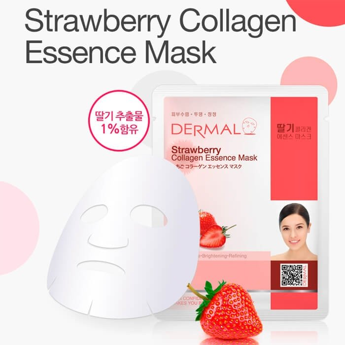 Тканевая маска Dermal Strawberry Collagen Essence Mask