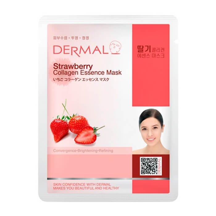Тканевая маска Dermal Strawberry Collagen Essence Mask