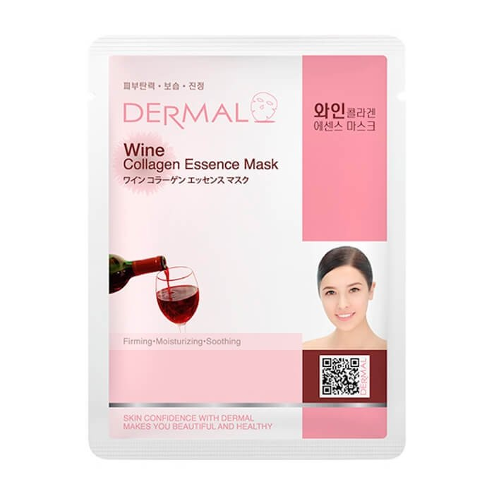 Тканевая маска Dermal Wine Collagen Essence Mask