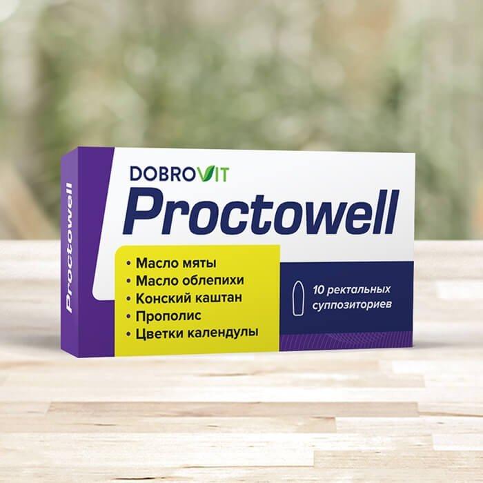 Суппозитории при геморрое DobroVit Proctowell