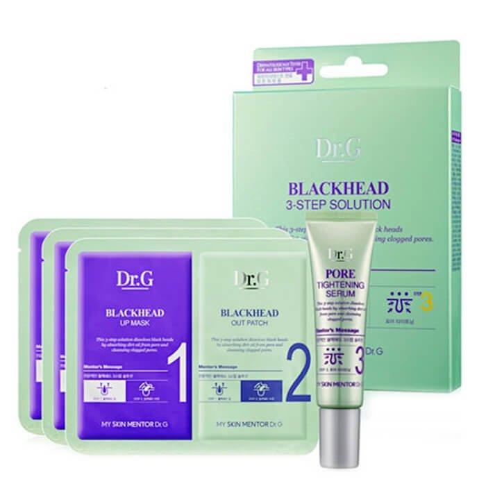 Набор от чёрных точек Dr.G Blackhead 3-Step Solution