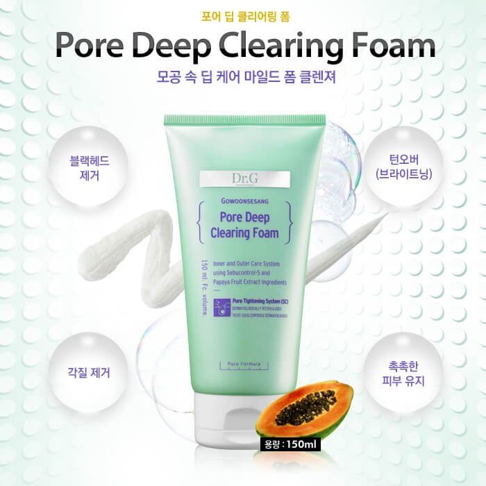 Очищающая пенка Dr.G Pore Deep Clearing Foam