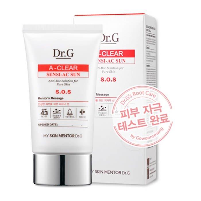 Солнцезащитный крем Dr.G A-Clear Sensi-AC Sun