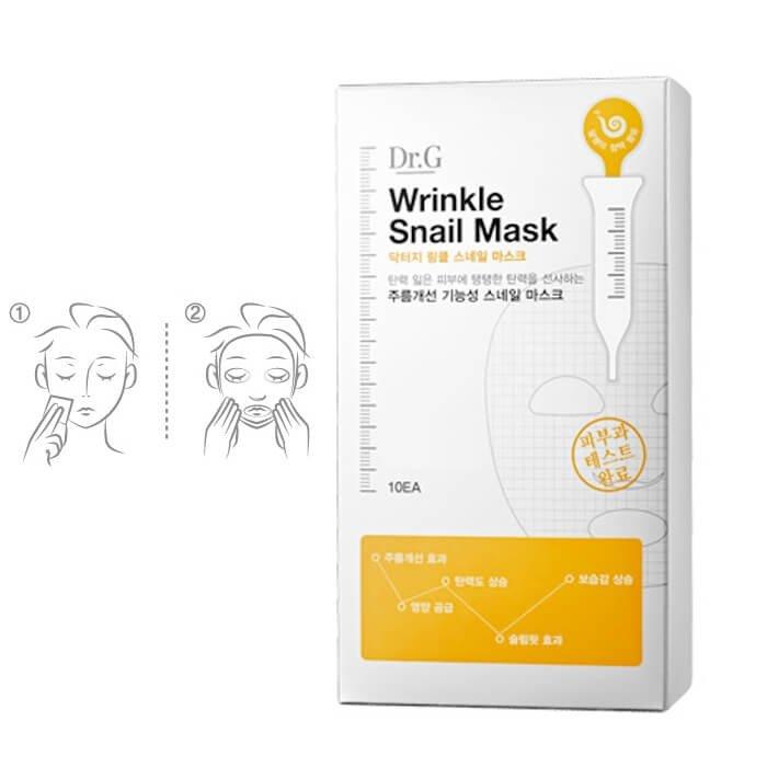 Тканевая маска Dr.G Wrinkle Snail Mask