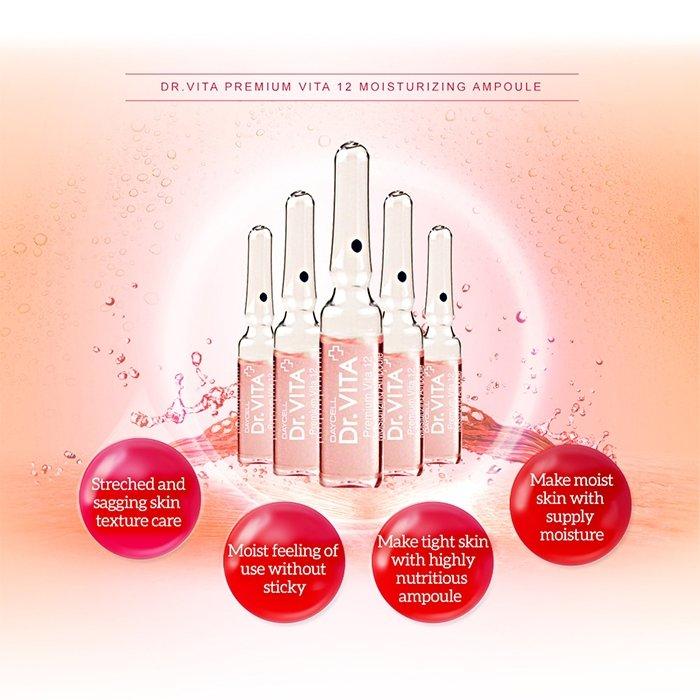 Ампульная сыворотка для лица Dr.Vita Premium Vita 12 Moisturizing Ampoule
