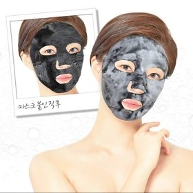 Кислородная маска Elizavecca Black Solution Bubble Serum Mask Pack