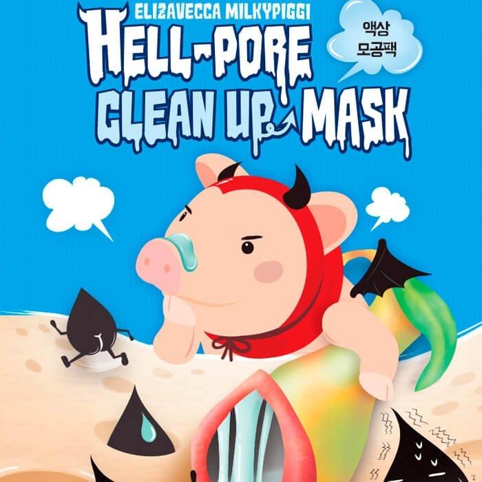 Маска от чёрных точек Elizavecca Hell-Pore Clean Up Mask