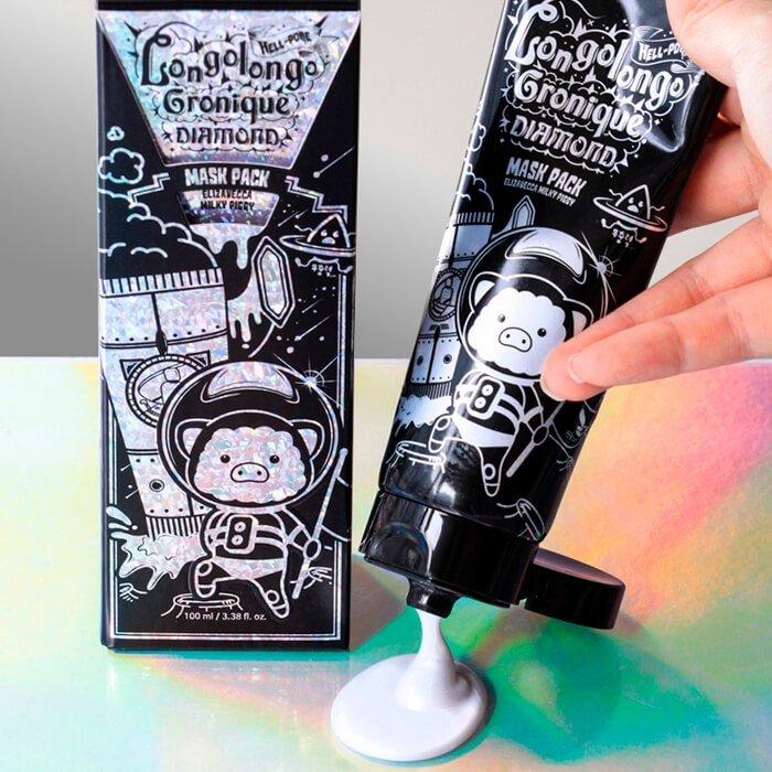 Маска-плёнка Elizavecca Hell-Pore Longolongo Gronique Diamond Mask Pack