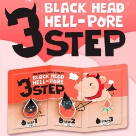 Набор от чёрных точек Elizavecca Milky Piggy Black Head Solution 3 Step Nose Strip
