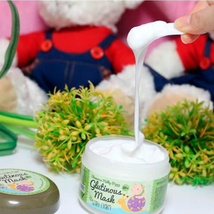 Ночная крем-маска Elizavecca Milky Piggy Glutinous 80% Mask Snail Cream