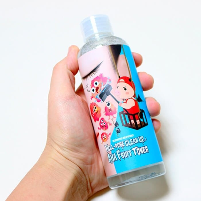 Пилинг-тонер Elizavecca Hell-Pore Clean Up AHA Fruit Toner