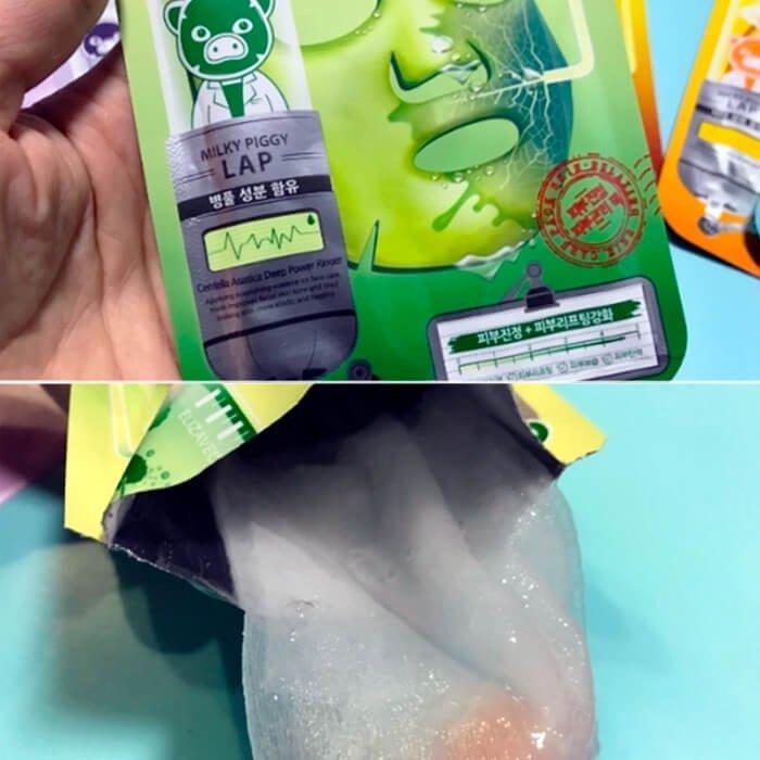 Тканевая маска Elizavecca Milk Deep Power Ringer Mask Pack