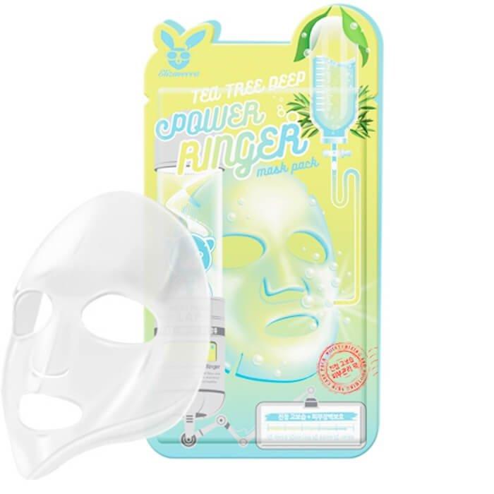 Тканевая маска Elizavecca Tea Tree Deep Power Ringer Mask Pack