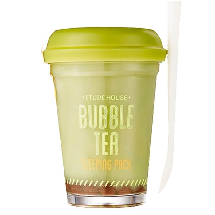 Ночная маска Etude House Bubble Tea Sleeping Pack - Green Tea