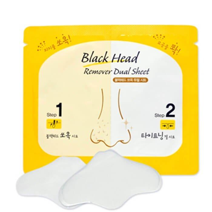 Очищающие полоски Etude House Black Head Remover Dual Sheet