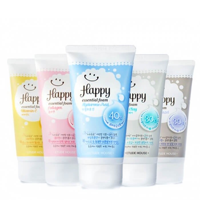 Пенка для умывания Etude House Happy Essential Cleansing Foam - Collagen